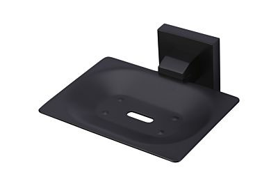 Meir schwarzer Seifenhalter quadratisch